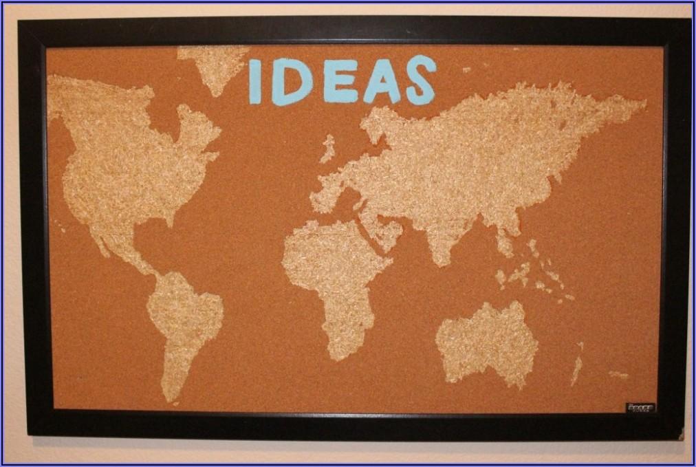 World Map Tack Board