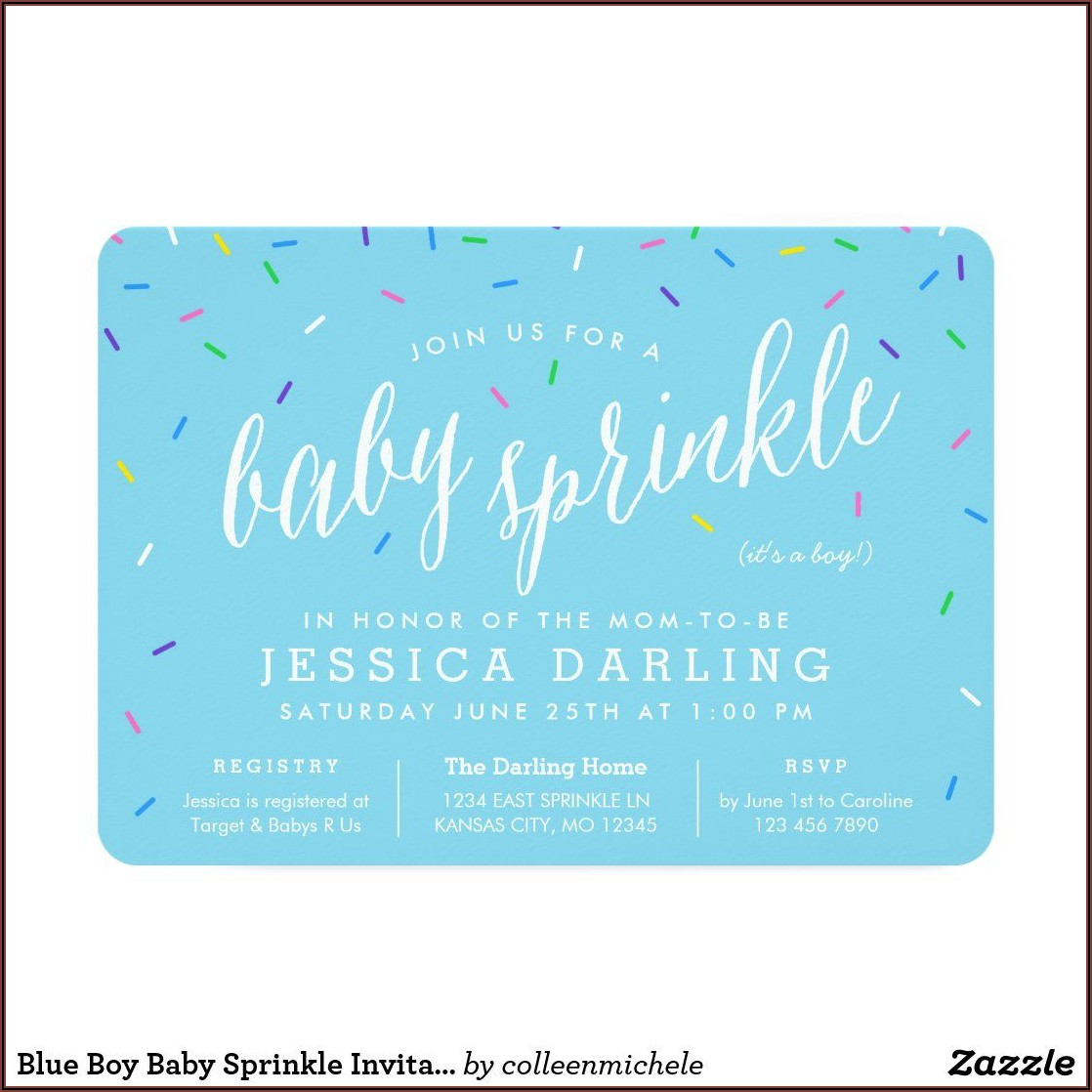 Zazzle Baby Boy Sprinkle Invitations