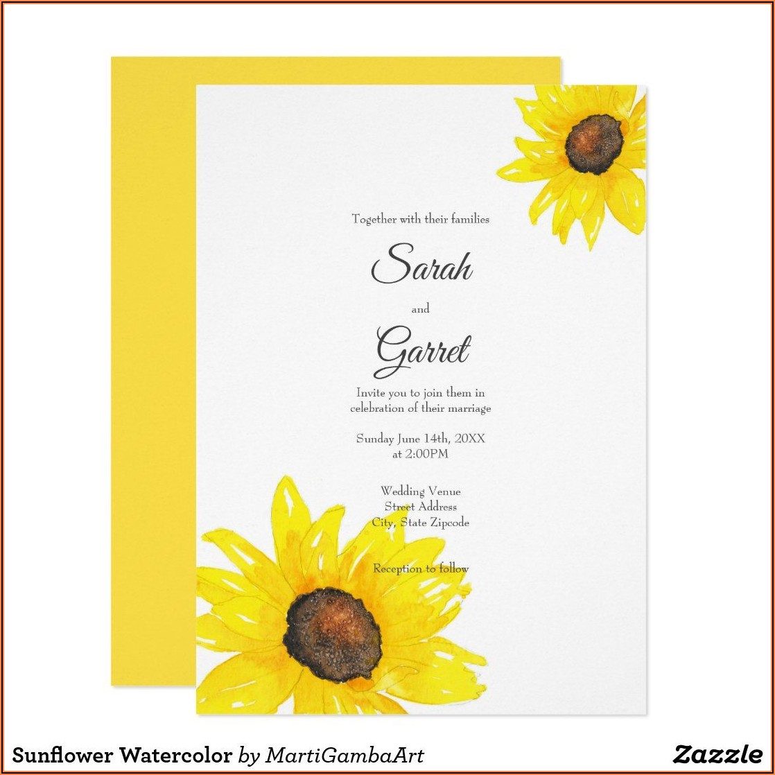Zazzle Sunflower Wedding Invitations