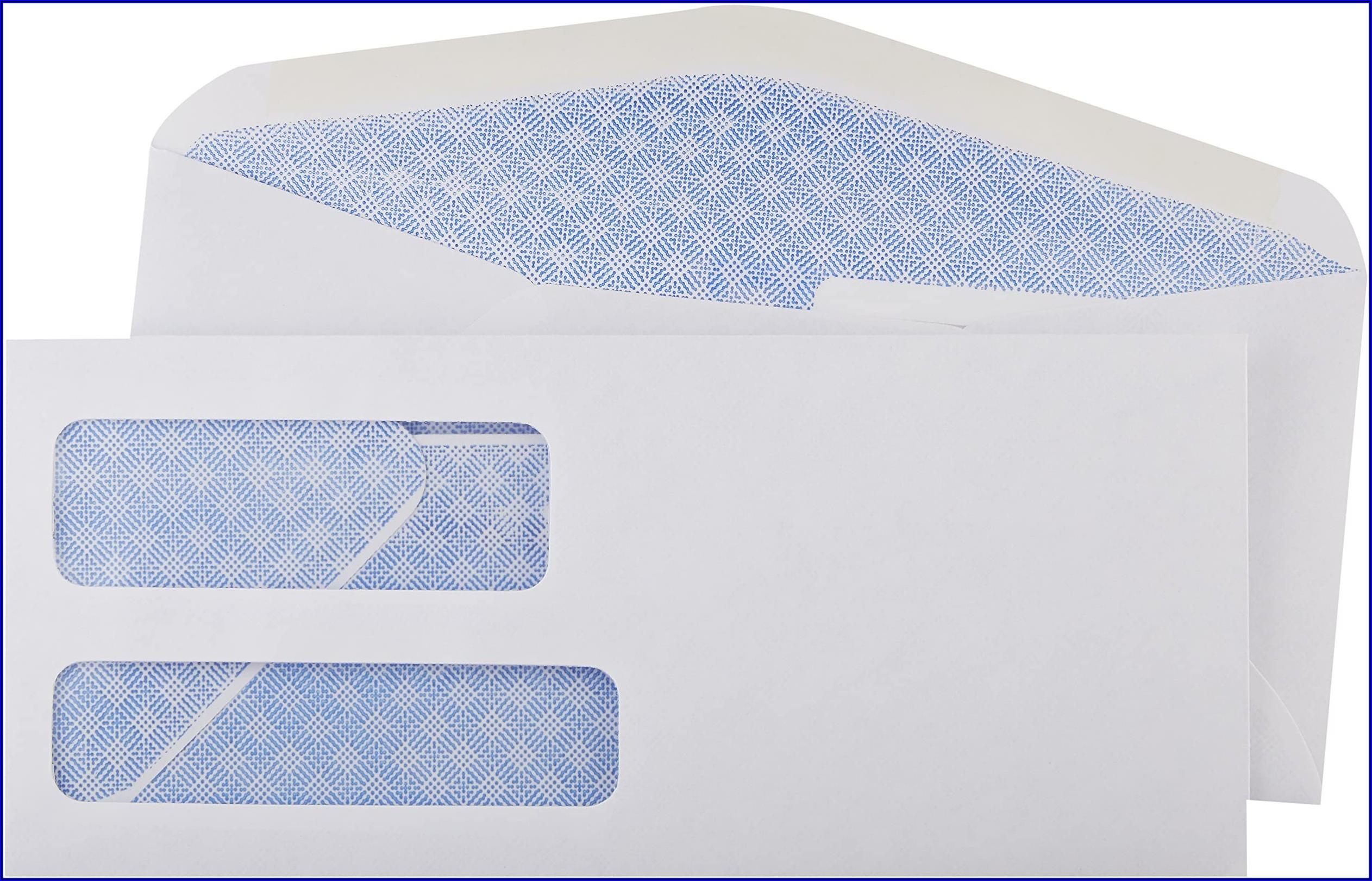 10 X 13 Double Window Envelopes