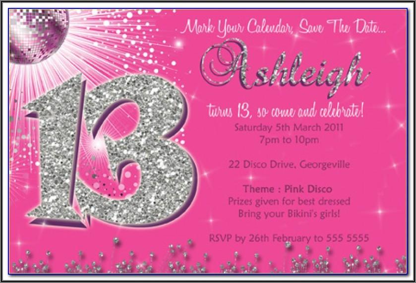 13th Birthday Boy Invitation Template