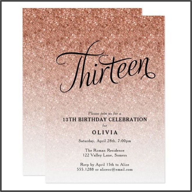 13th Birthday Invitations Ideas