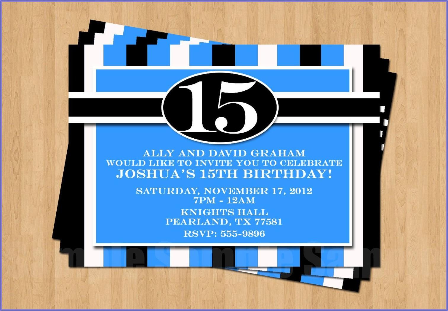 15th Birthday Invitation Wording Ideas
