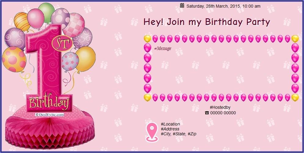 1st Birthday Invitation Sms In Marathi