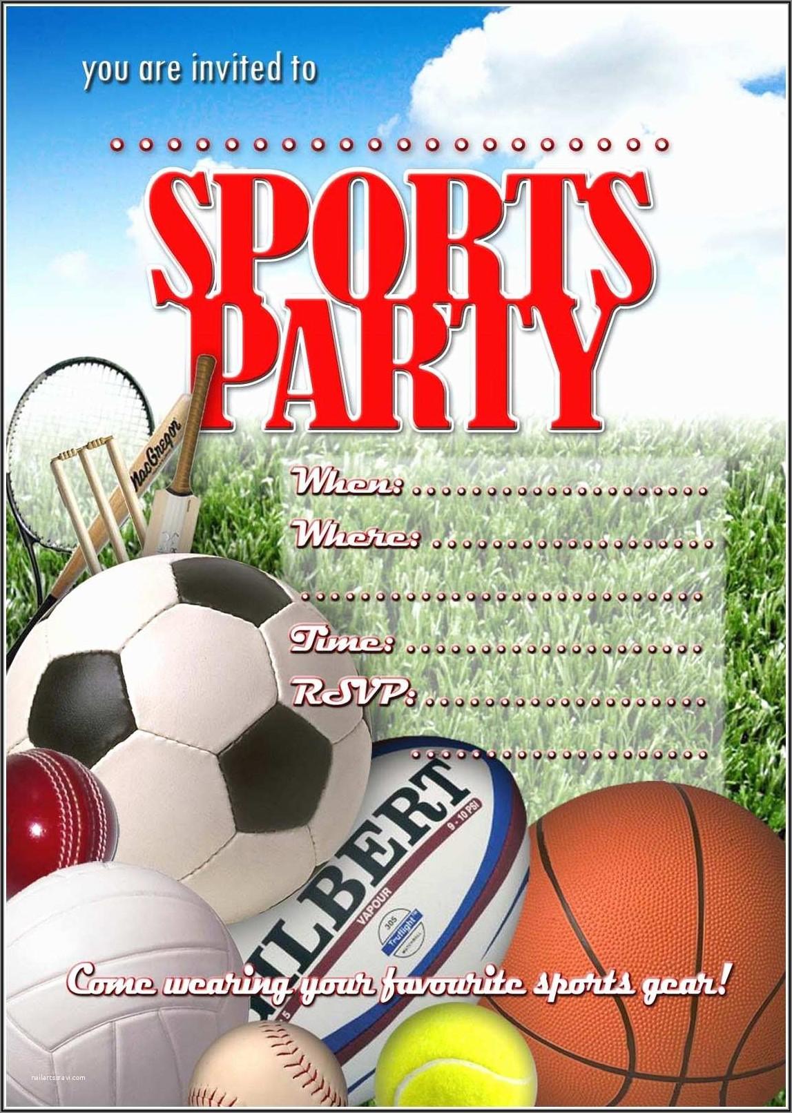 1st Birthday Invitations Boy Sports