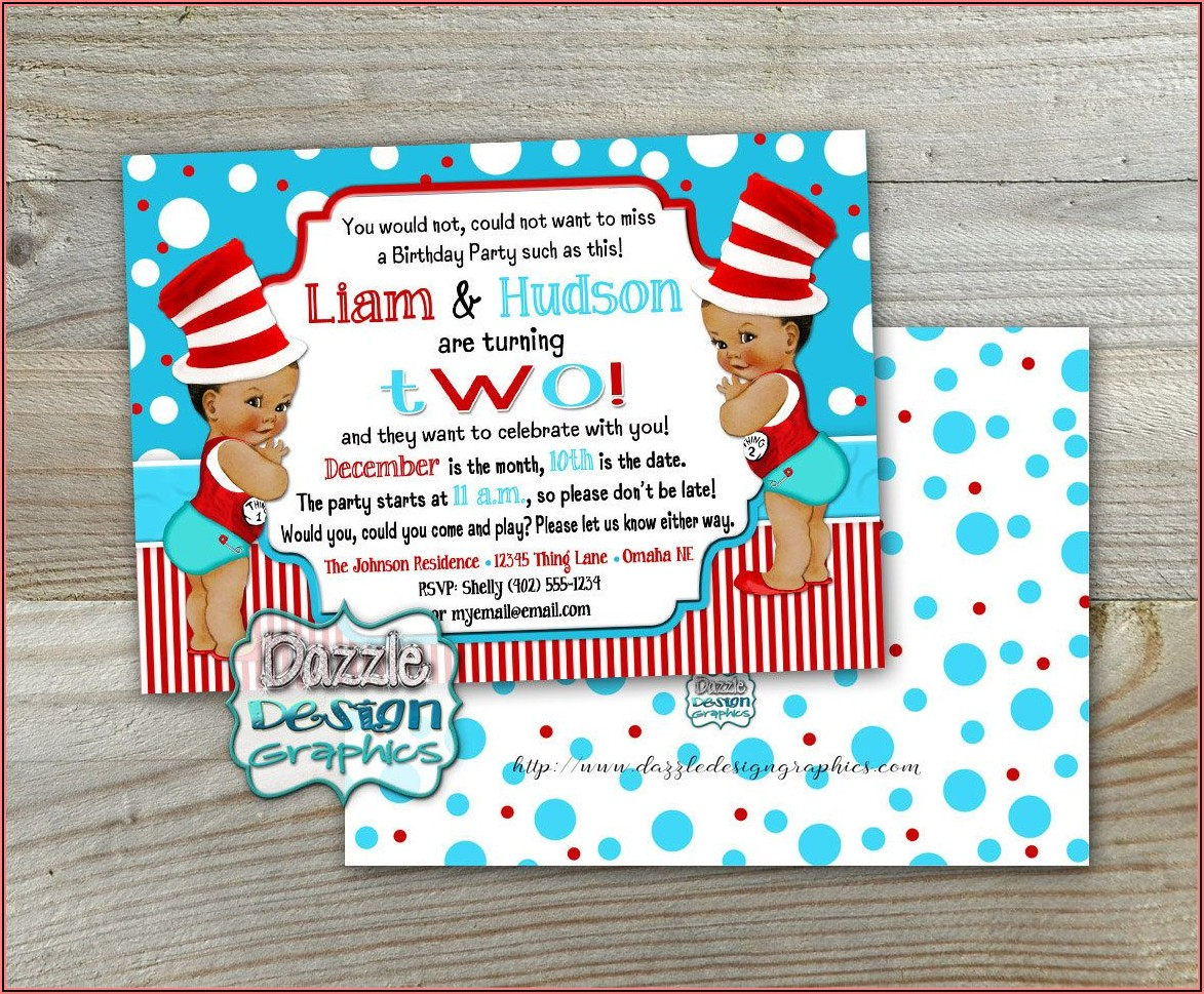 1st Birthday Invitations For Twins Boy+girl