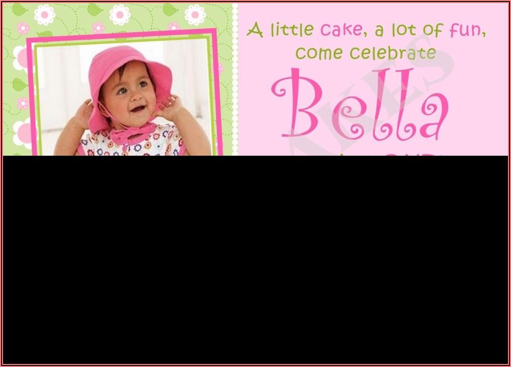 1st Birthday Invitations Girl Free