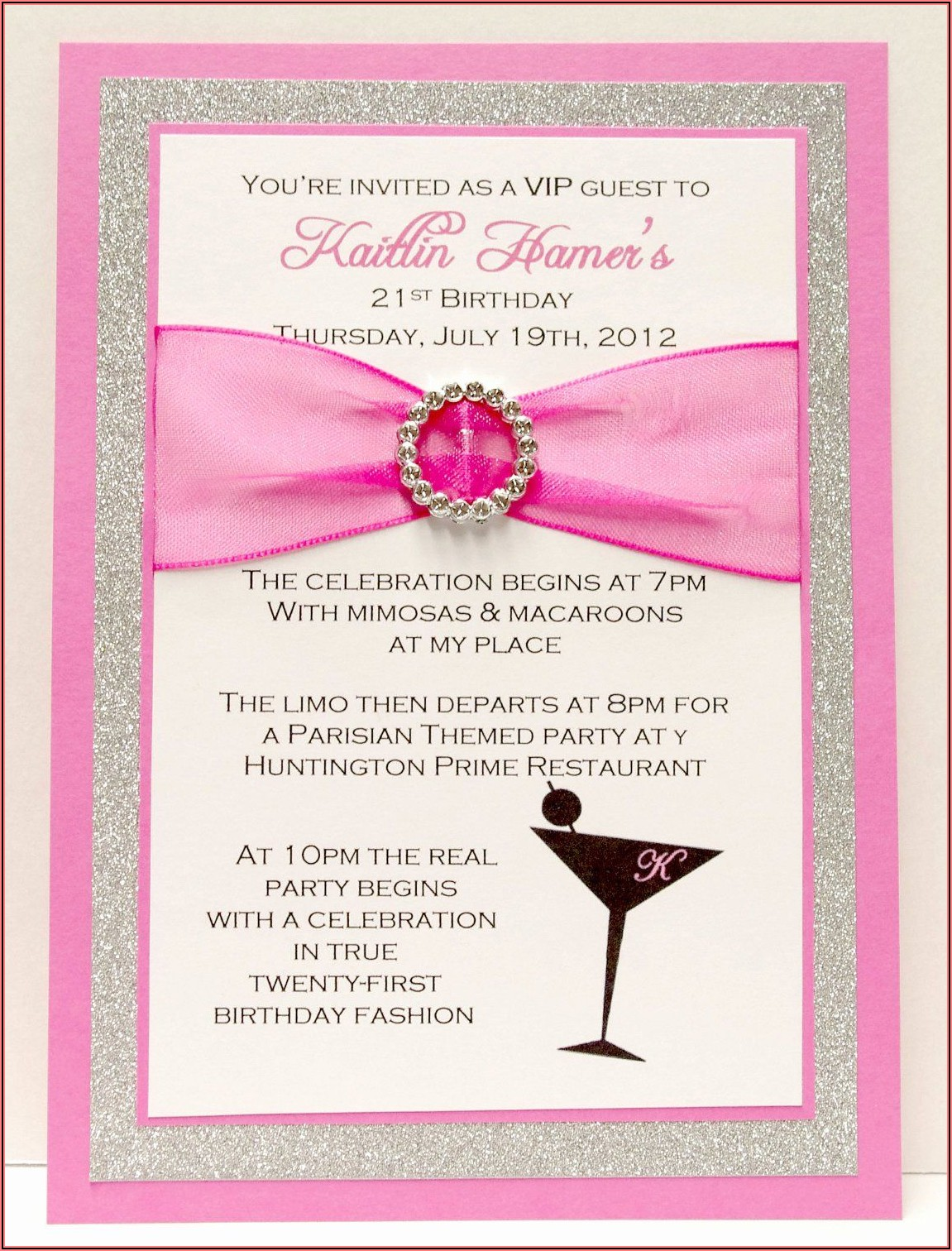 21st Birthday Custom Invitations