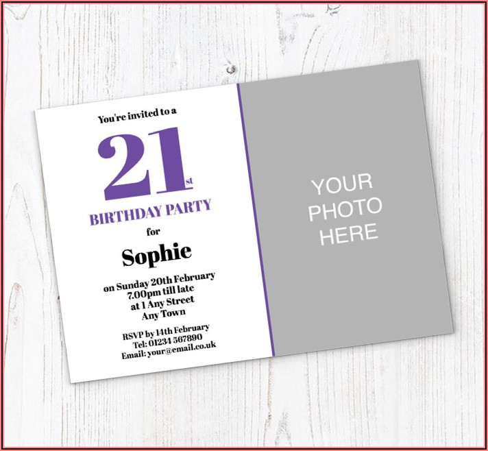 21st Birthday Photo Invitations