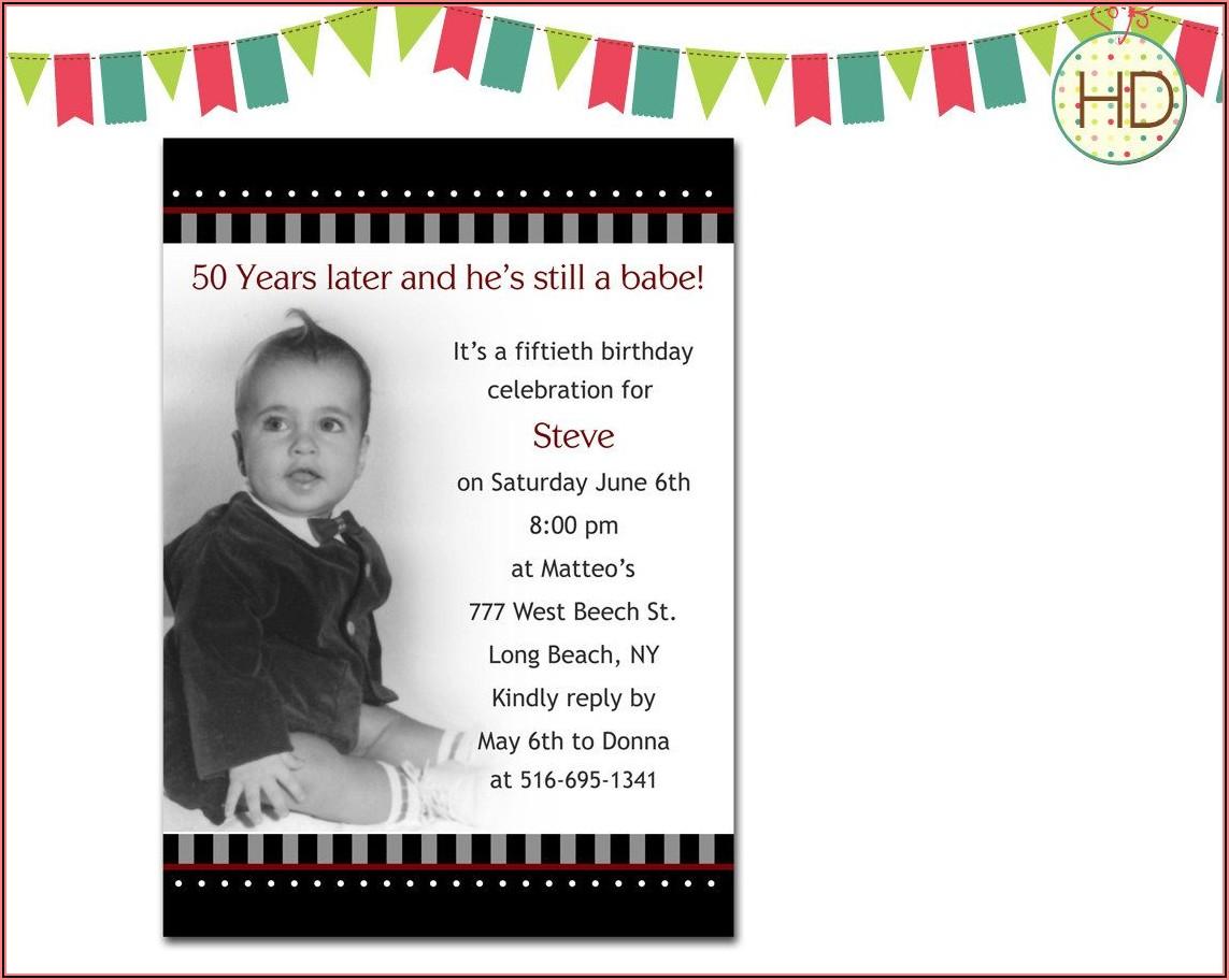 50th Birthday Invitation Samples