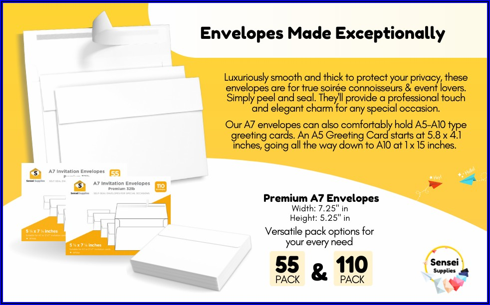 5x7 Envelopes Need Extra Postage