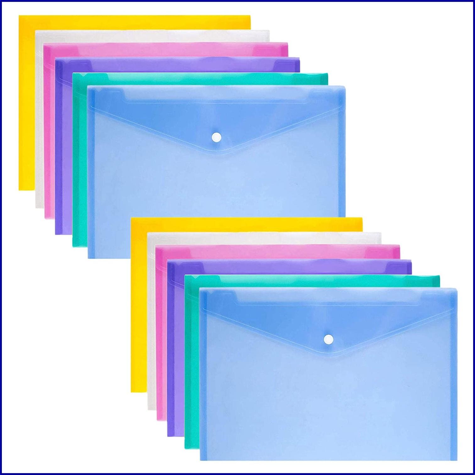 A4 Plastic Envelope Folders