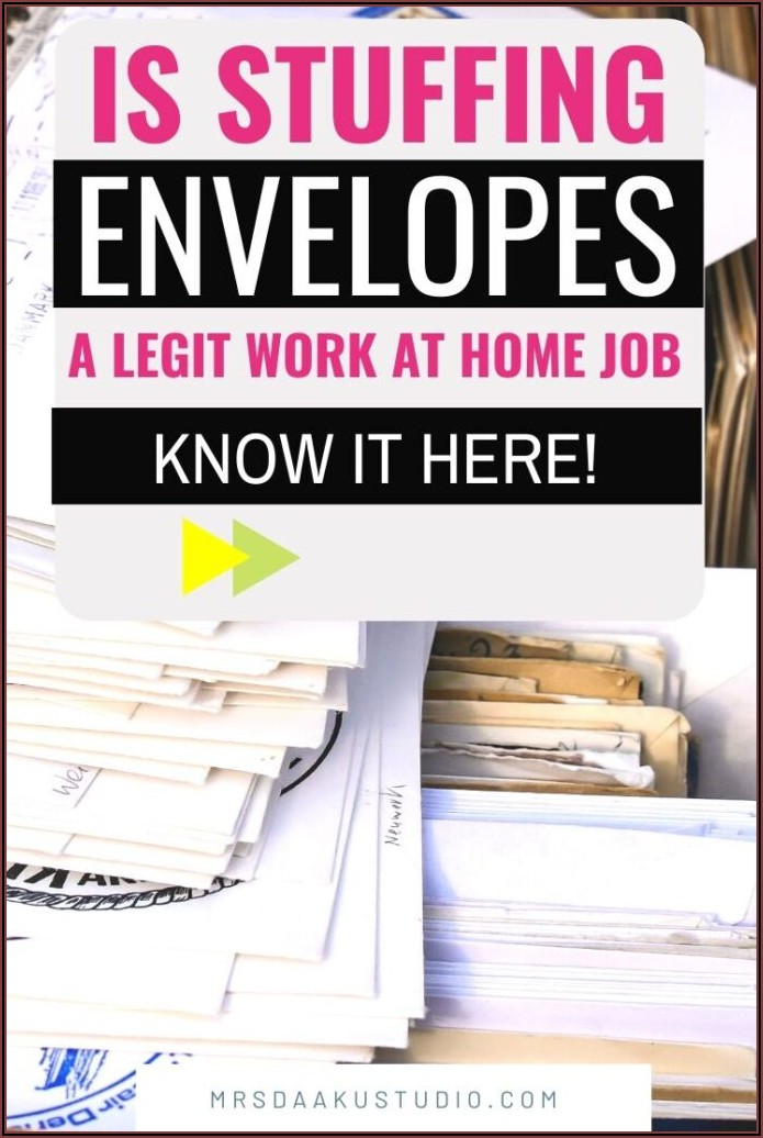 Are Any Envelope Stuffing Jobs Legitimate
