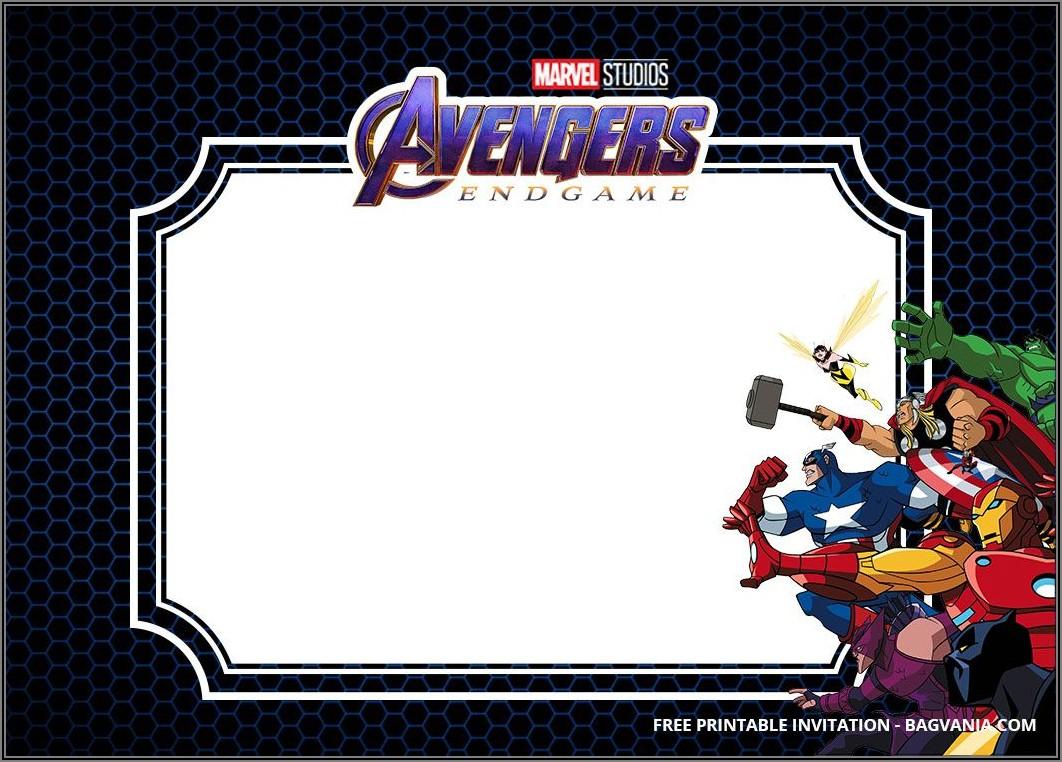 Avengers Birthday Invitations Free Printable
