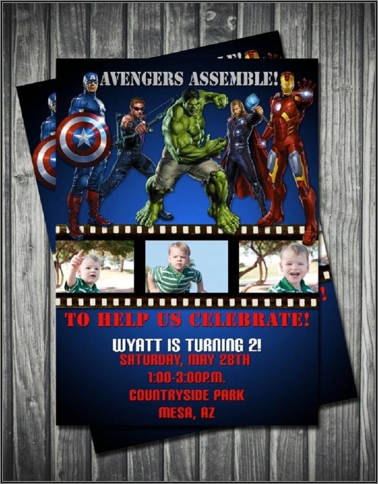 Avengers Birthday Invitations Printable