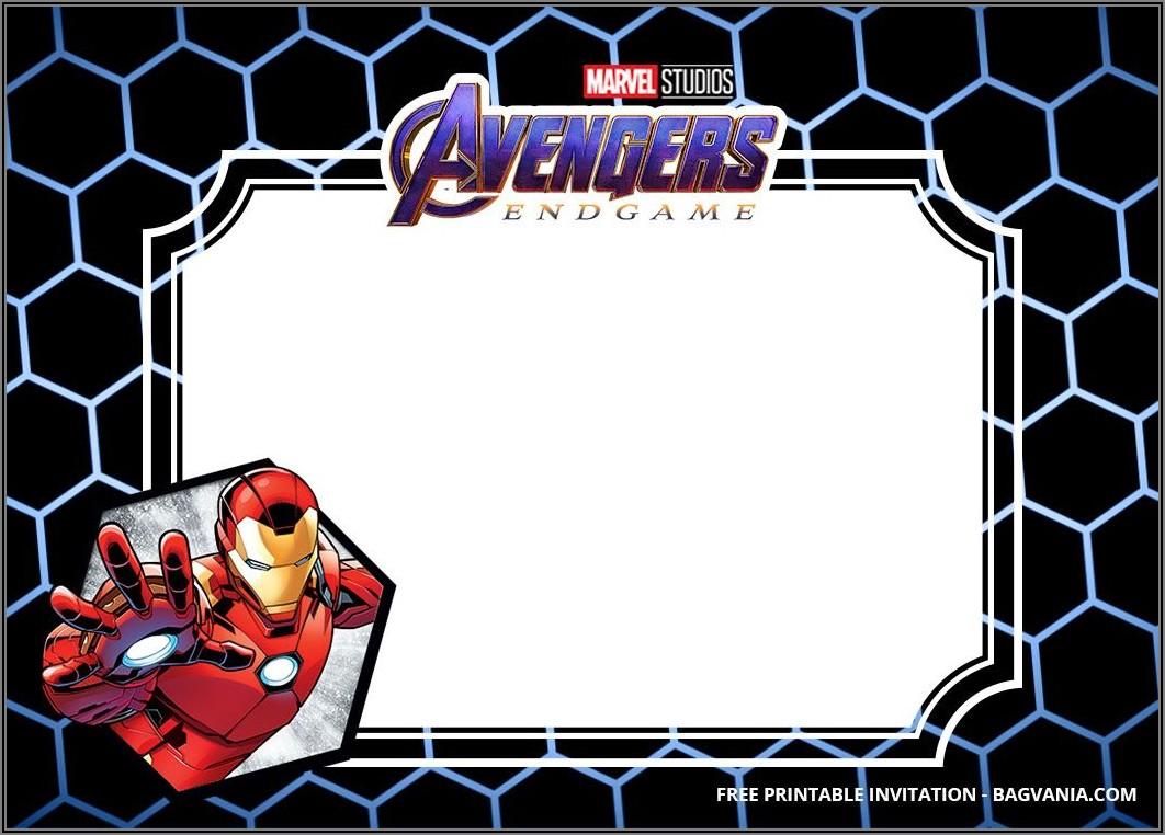 Avengers Birthday Invitations Templates Free