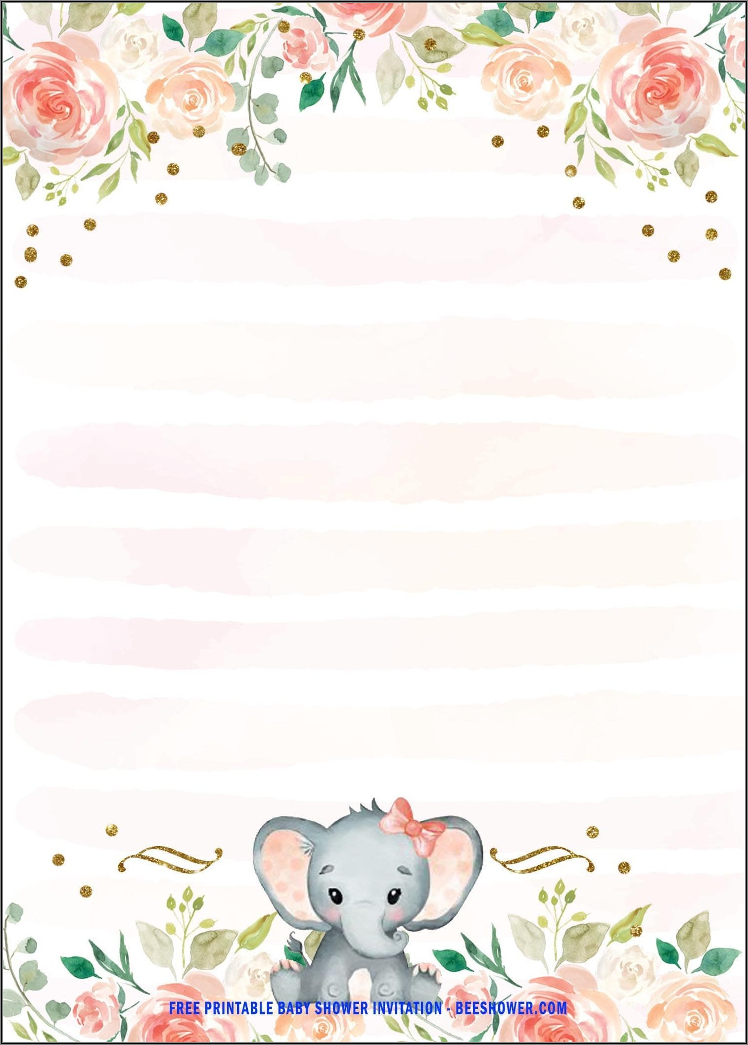 Baby Girl Invitations Templates