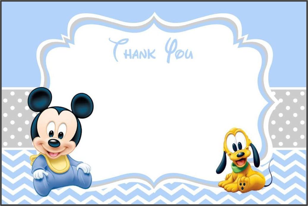 Baby Mickey Mouse 1st Birthday Invitations