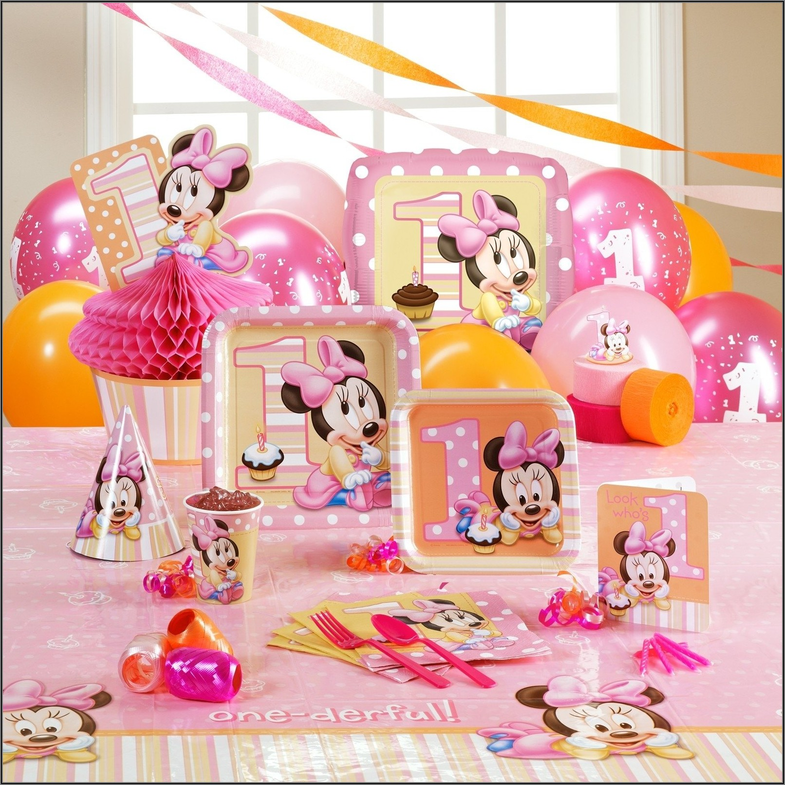 Baby Minnie Mouse 1st Birthday Party Ideas
