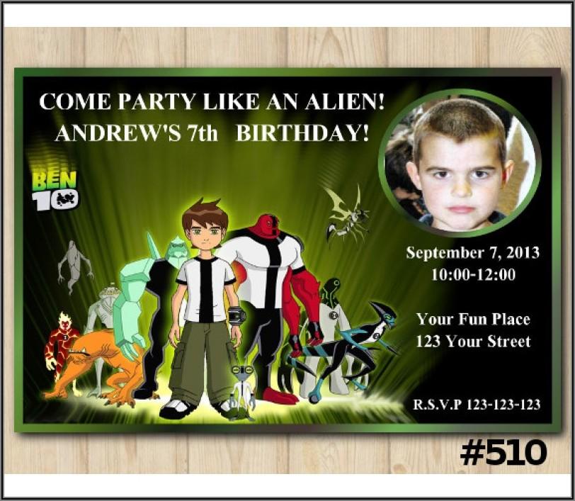 Ben 10 Personalized Birthday Invitations