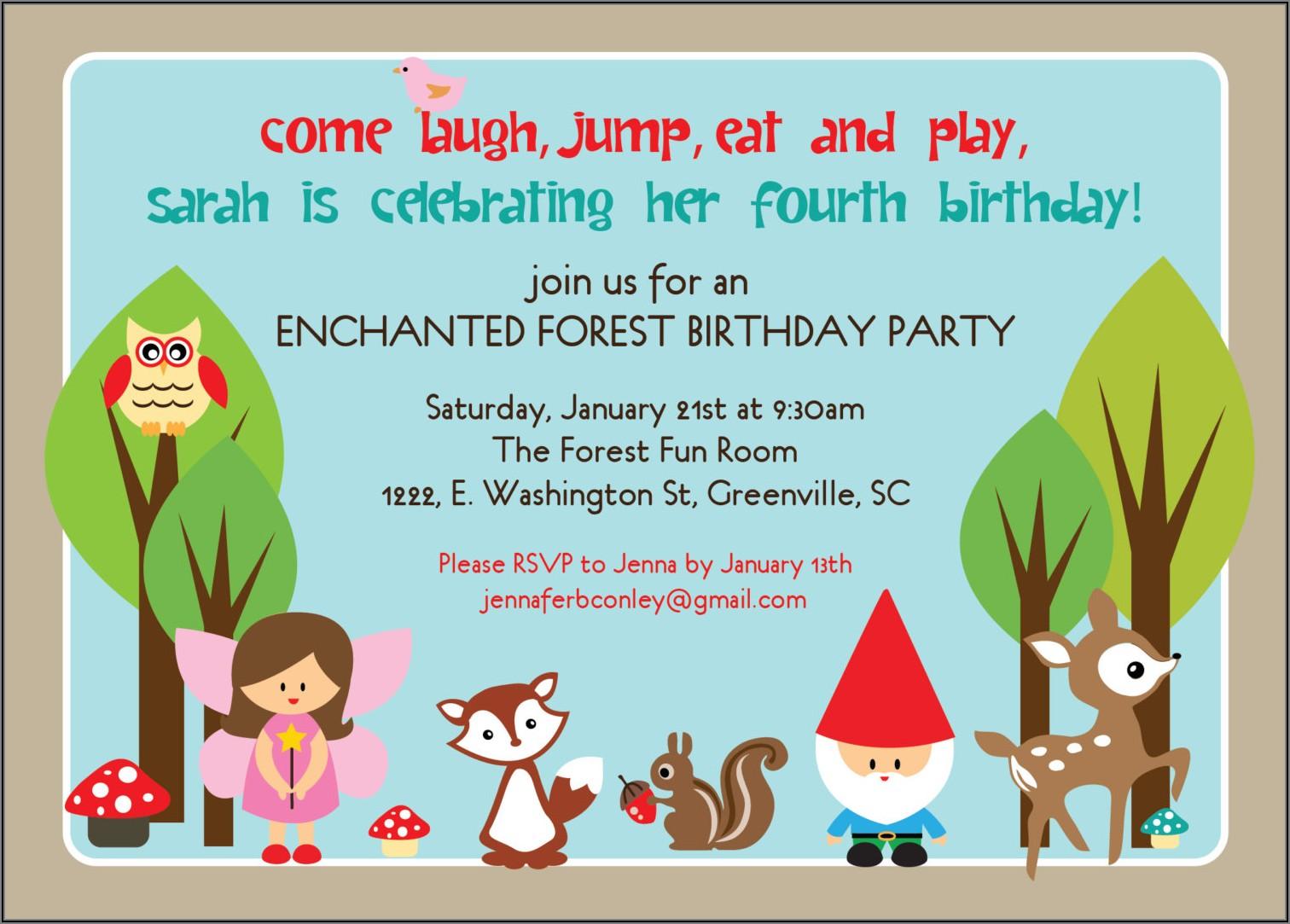 Birthday Dinner Invitation Sample