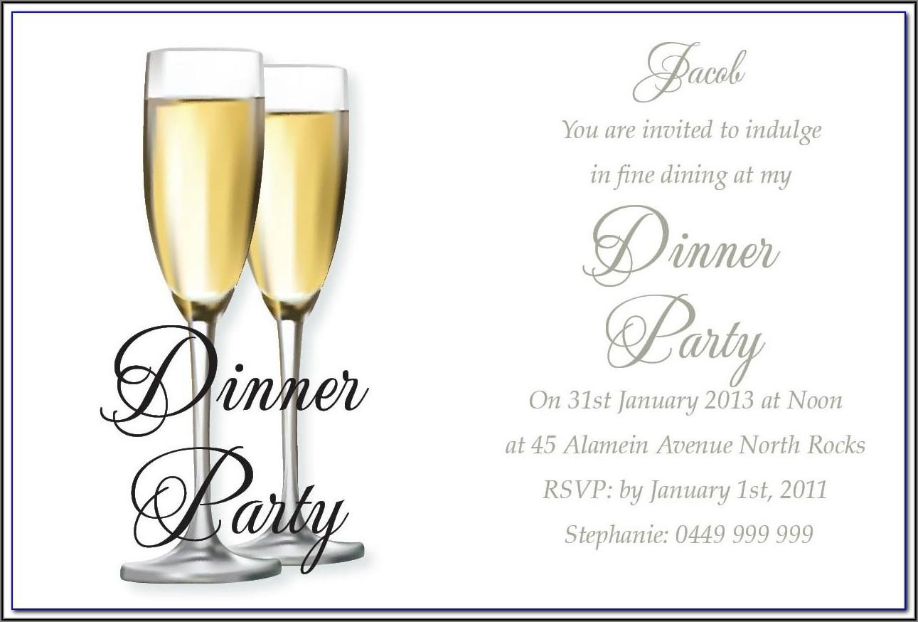 Birthday Dinner Invitation Wording For Friends