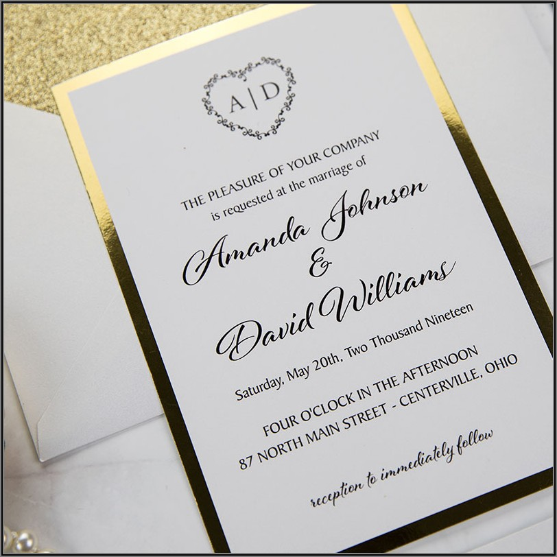 Black And Gold Wedding Invitations Canada