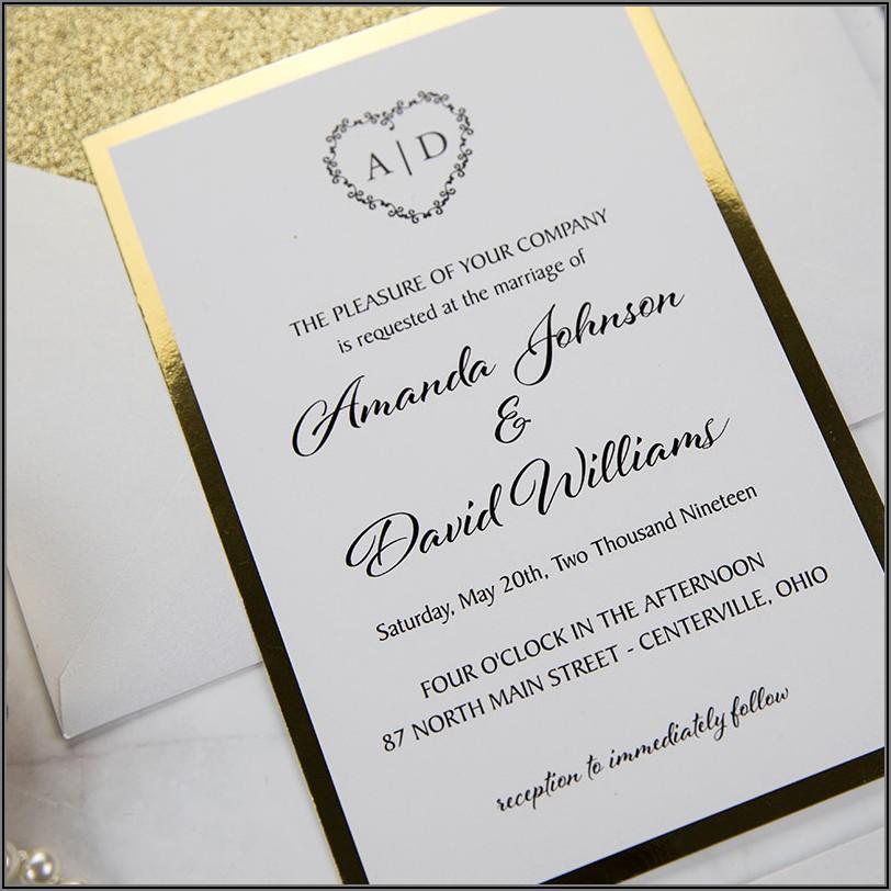 Black And Gold Wedding Invitations Canada