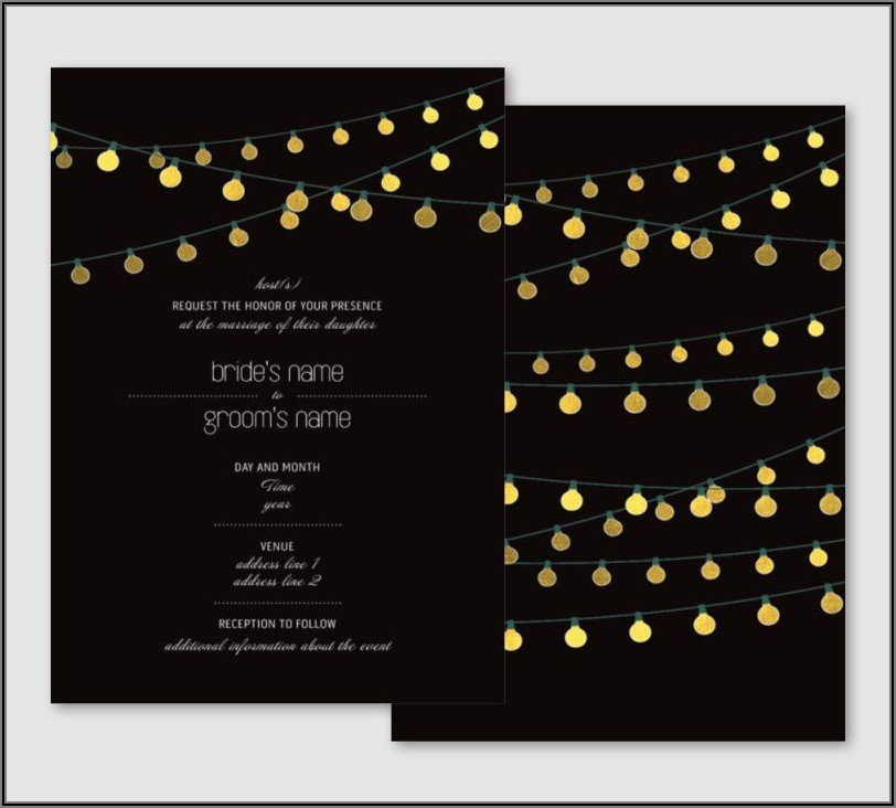 Black And Gold Wedding Invitations Vistaprint
