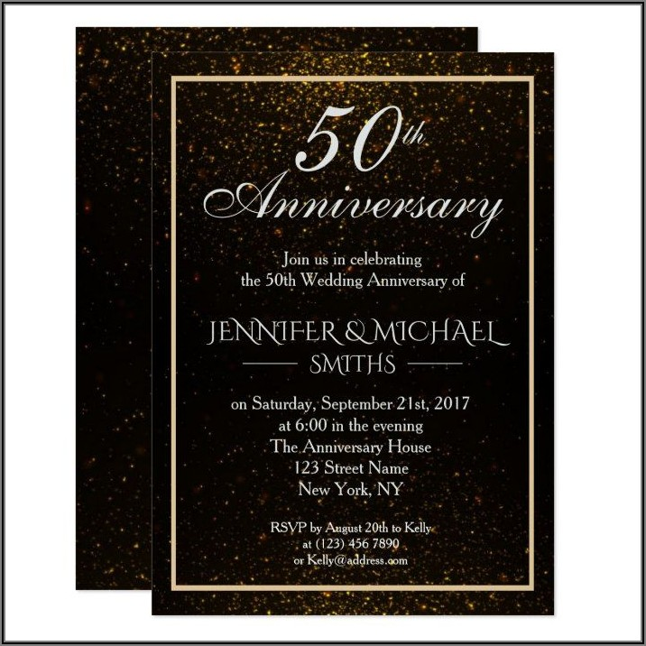 Black And Gold Wedding Invite Zazzle