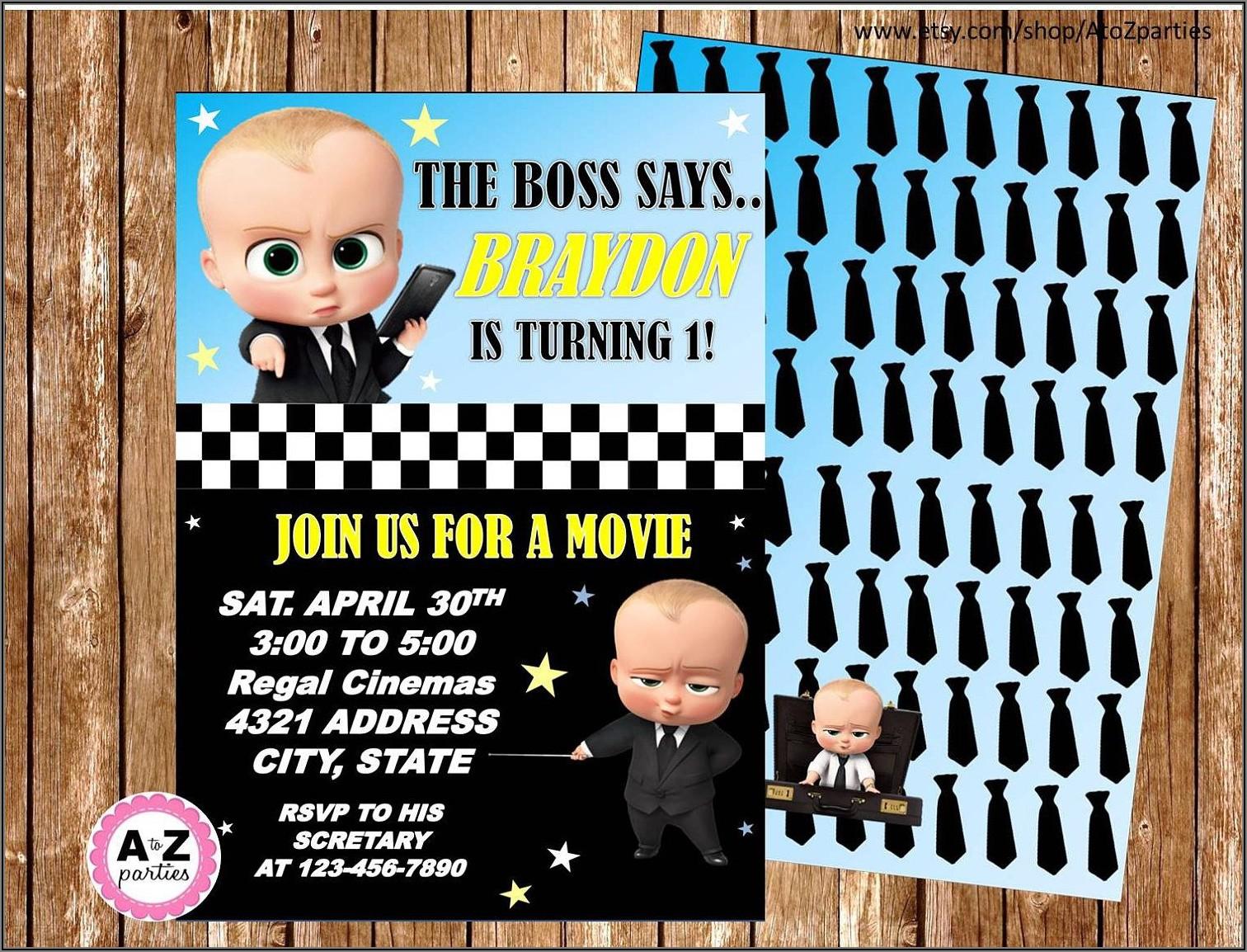 Black Boss Baby Girl Invitations