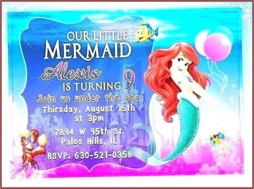Blank Mermaid Invitation Template Free