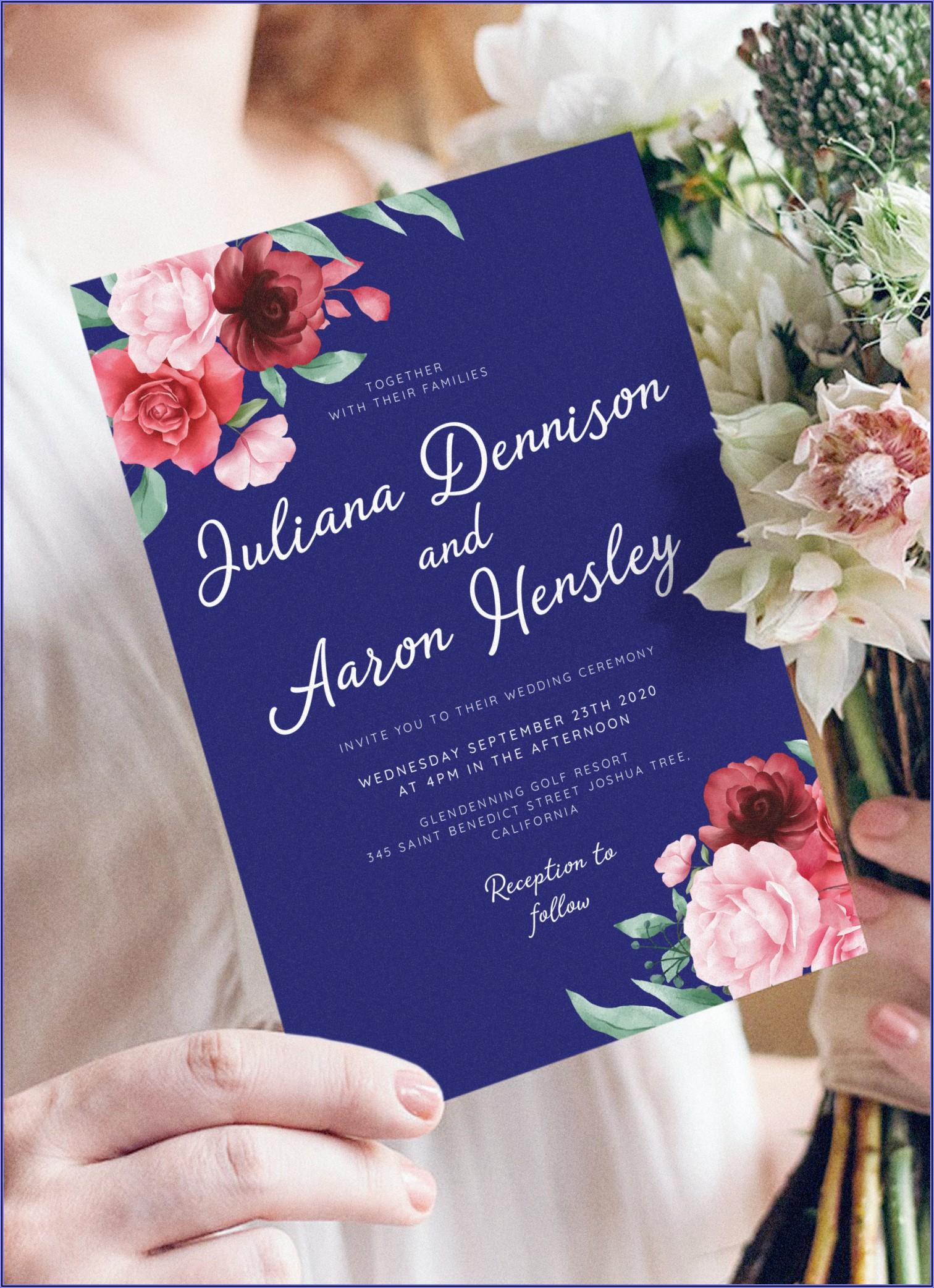 Blue Wedding Invitation Templates