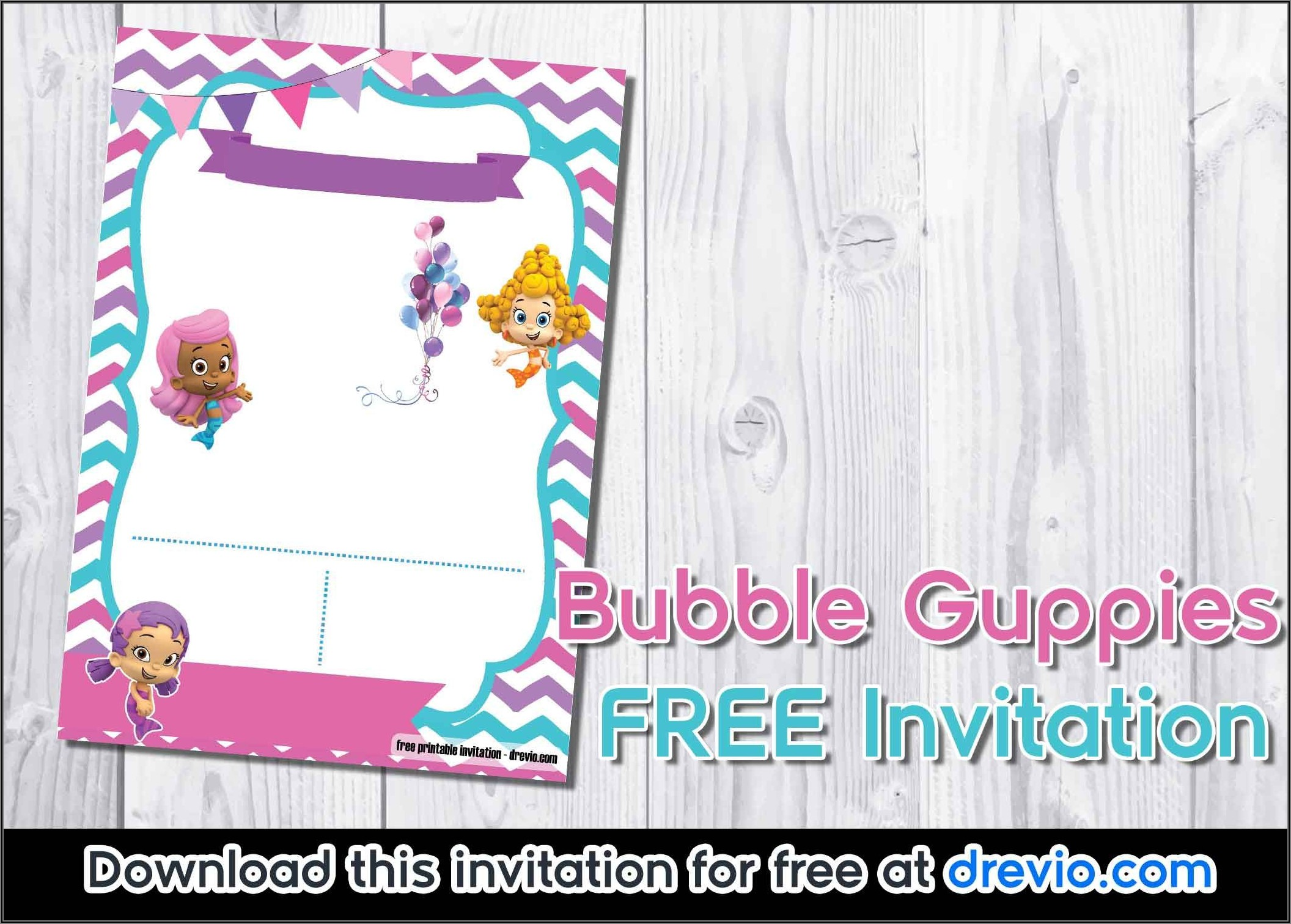 Bubble Guppies Birthday Invitation Template Free