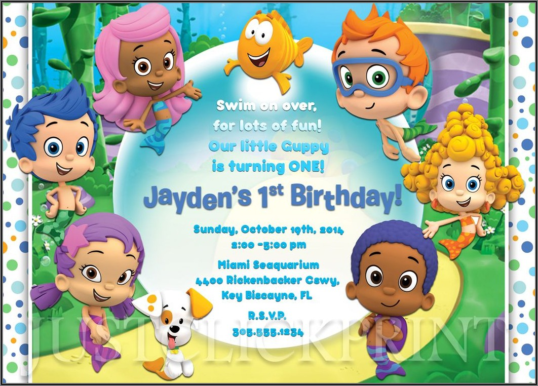 Bubble Guppies Birthday Invitations Online