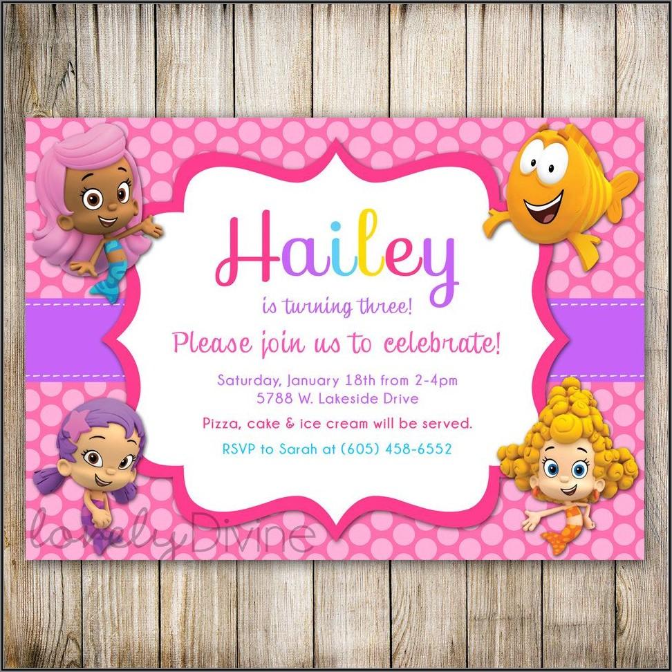 Bubble Guppies First Birthday Invitations