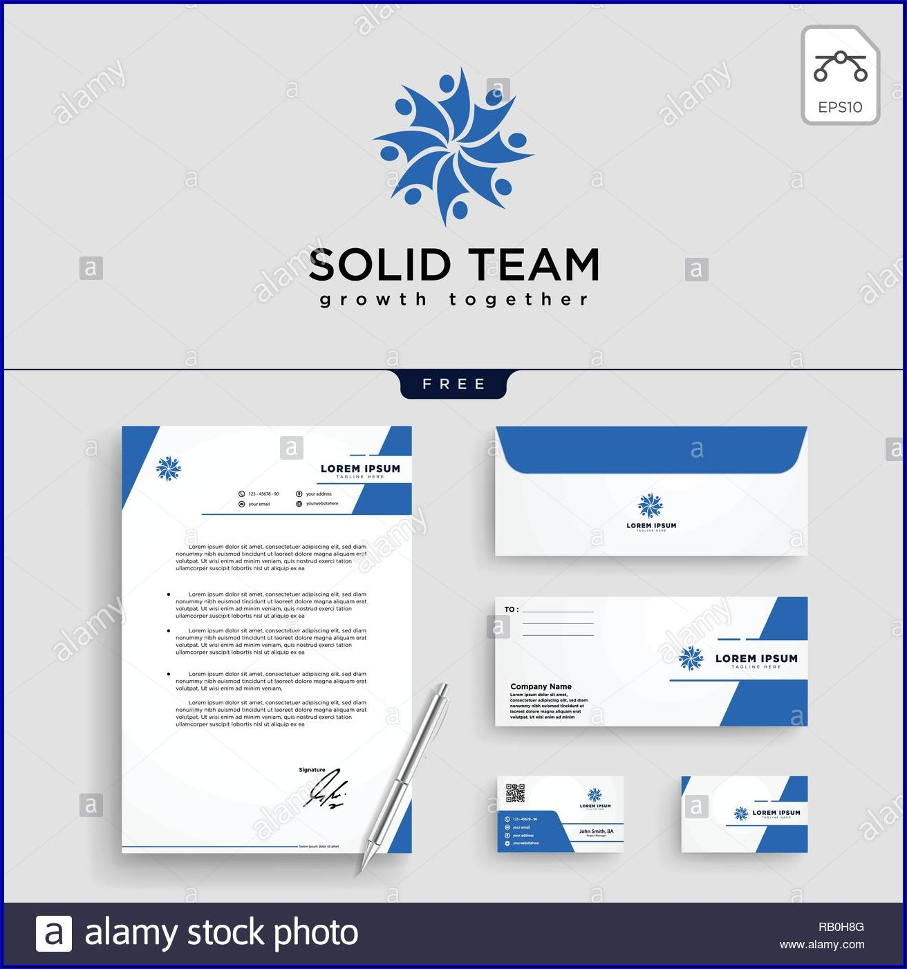 Business Card Envelope Template Vector