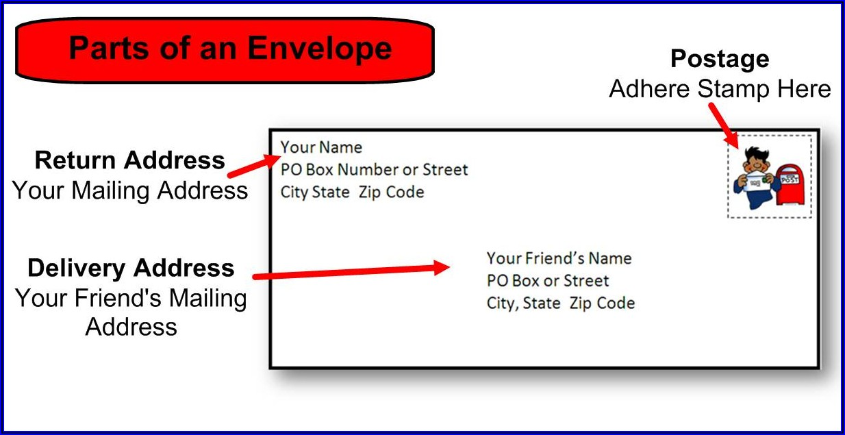 Business Envelope Address Template
