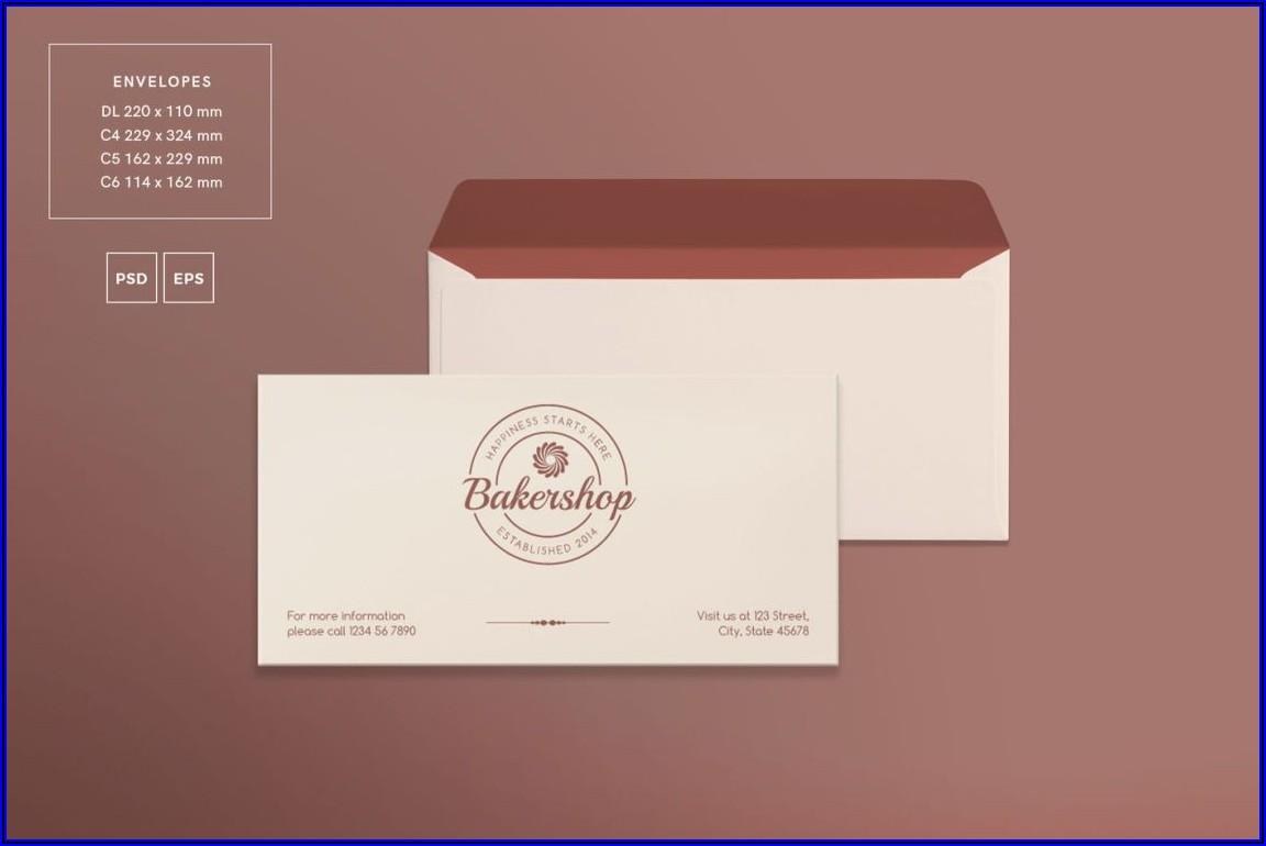 Business Envelope Design Template Free Download