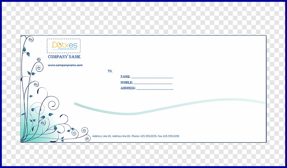 Business Envelope Design Template