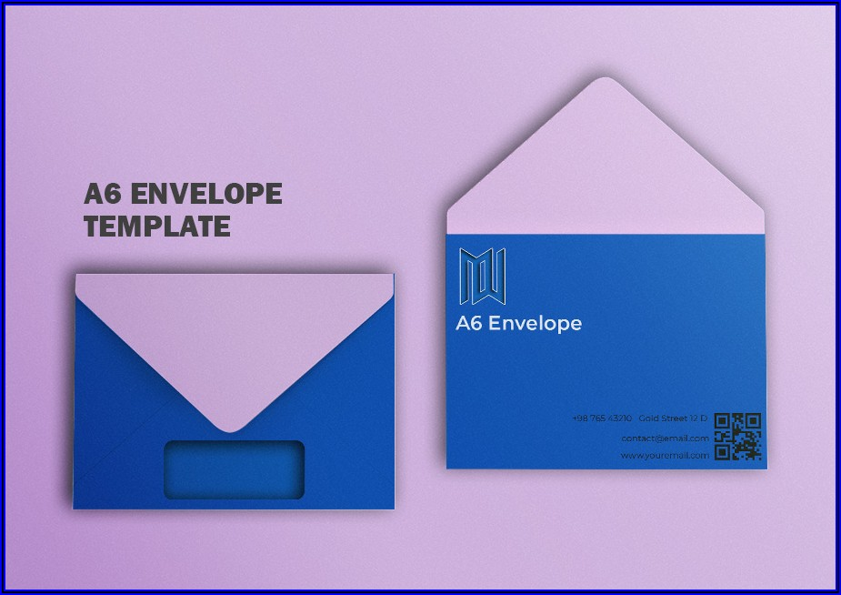 Business Envelope Template Psd