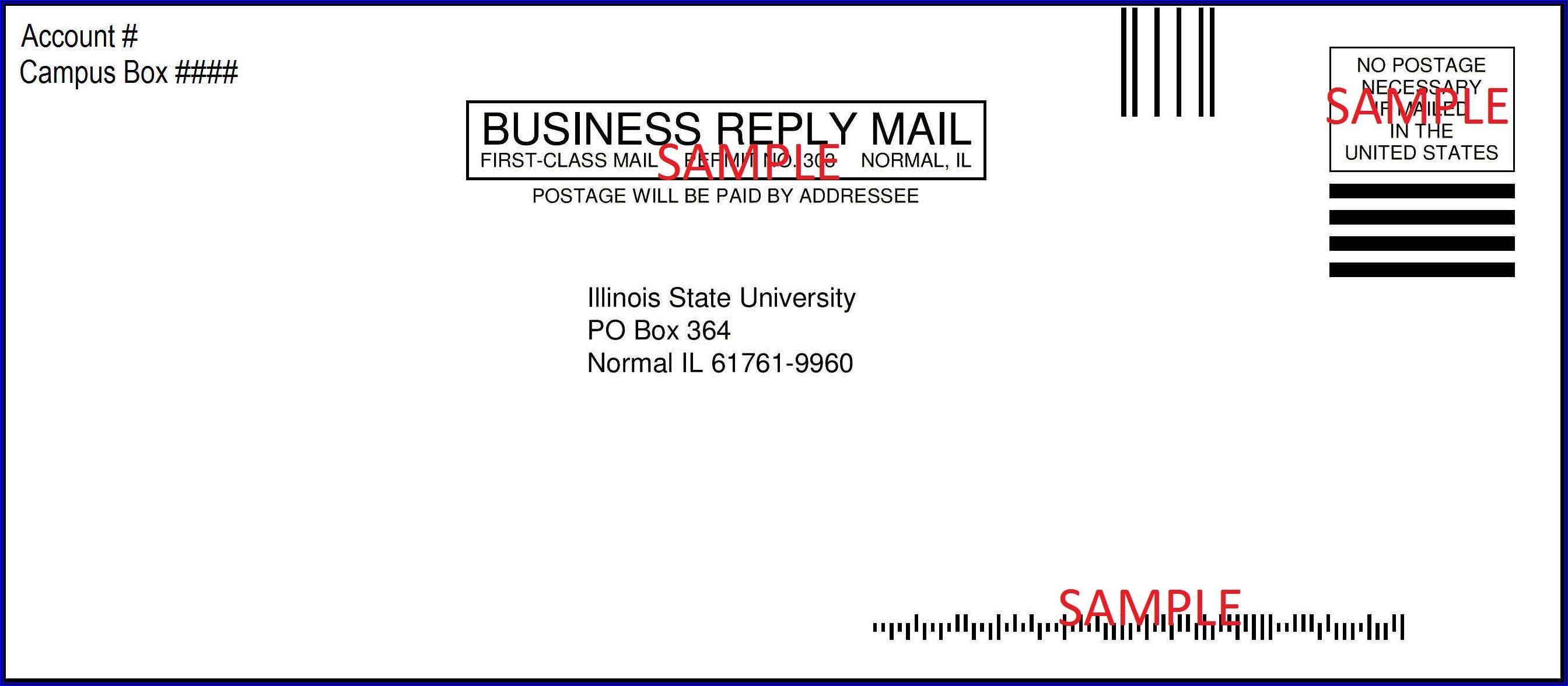 Business Letter Envelope Template