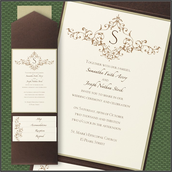 Carlson Craft Wedding Invitation Wording