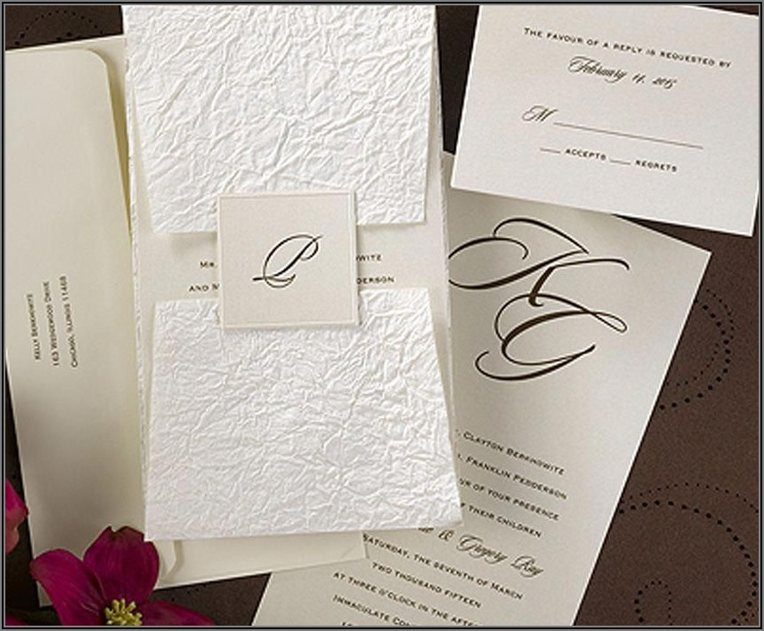 Carlson Craft Wedding Invitations Discount