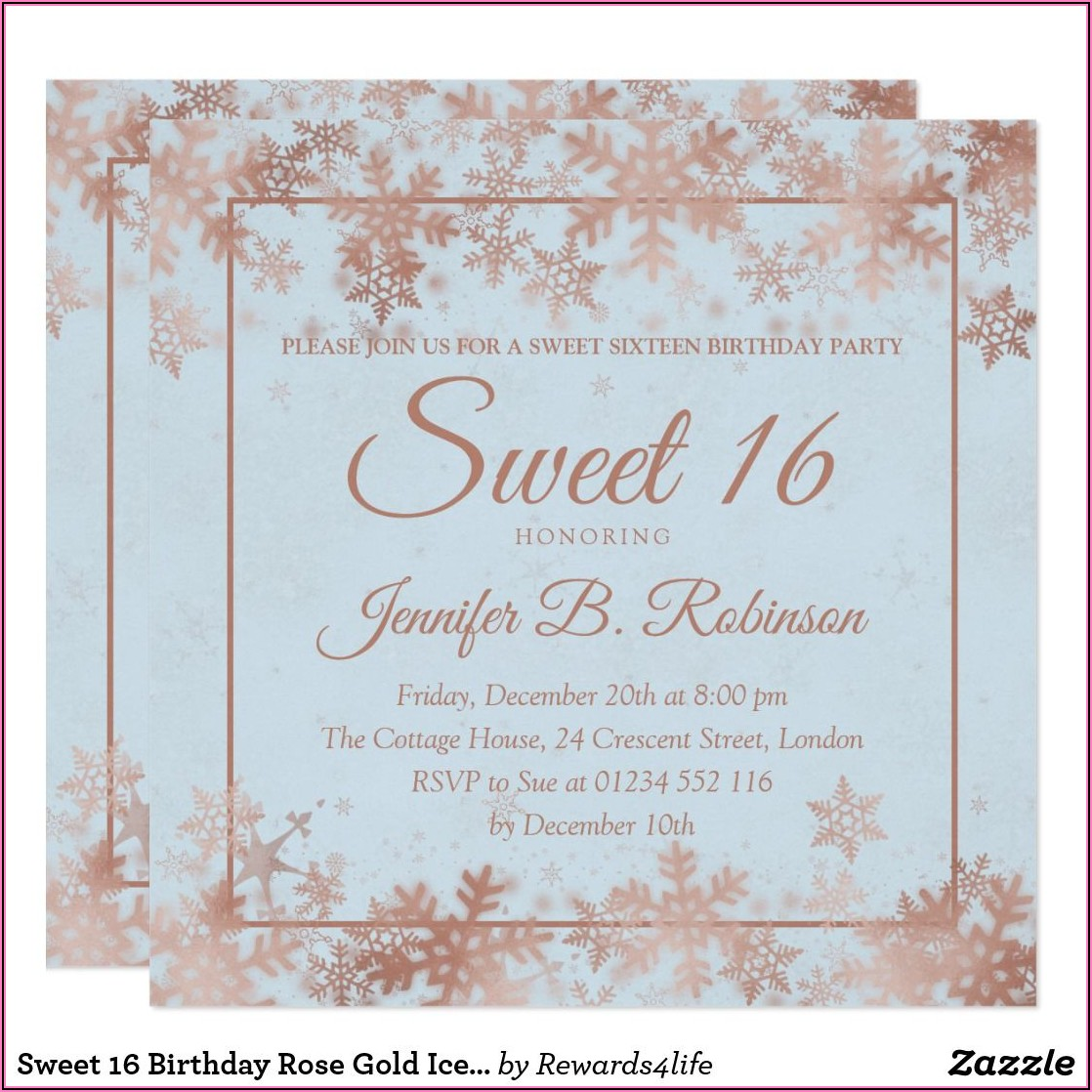 Cheap Personalized Sweet 16 Invitations