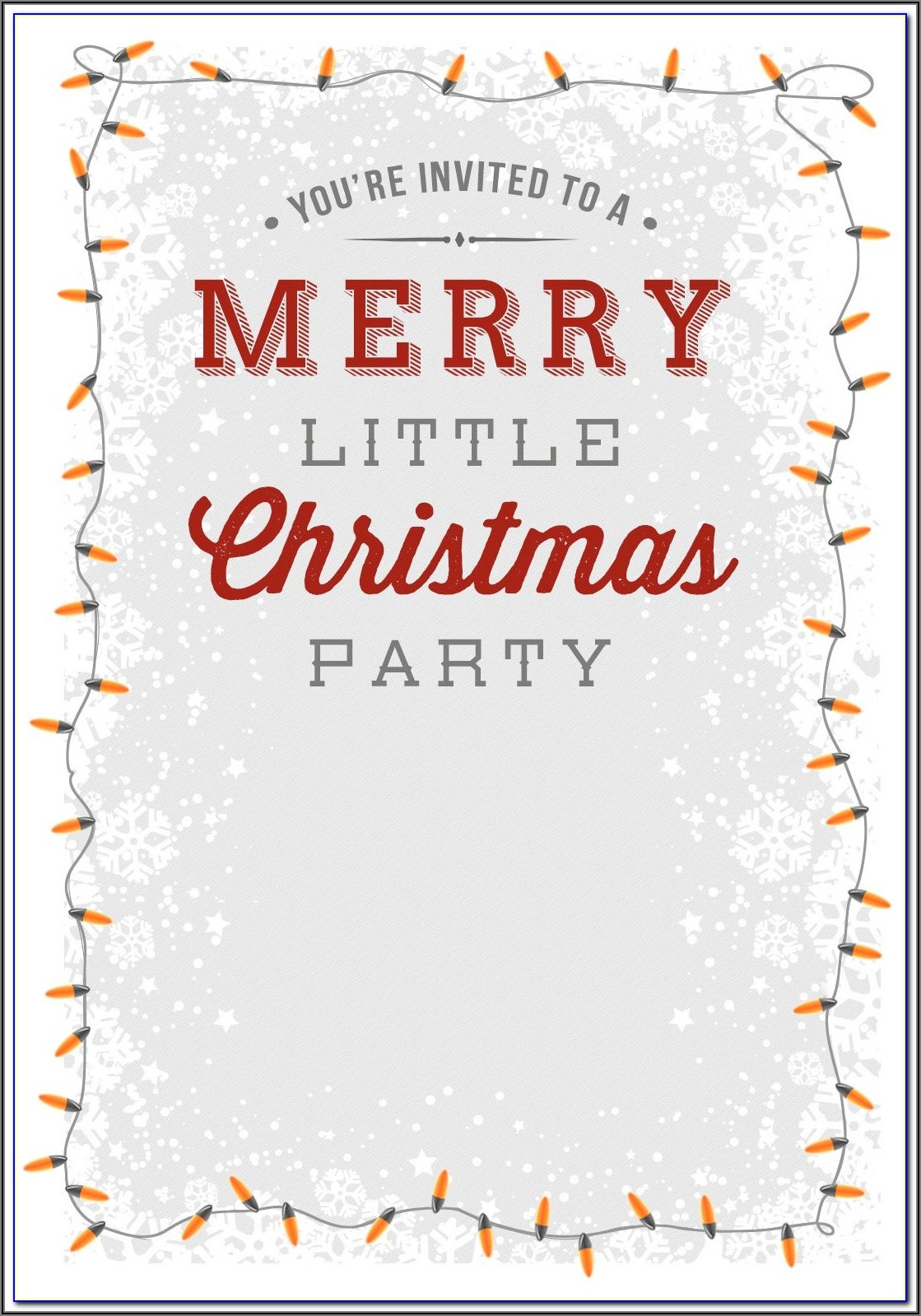 Christmas Dinner Invitation Email Template
