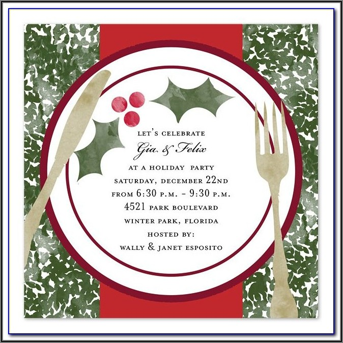 Christmas Dinner Invitation Templates Free Printable