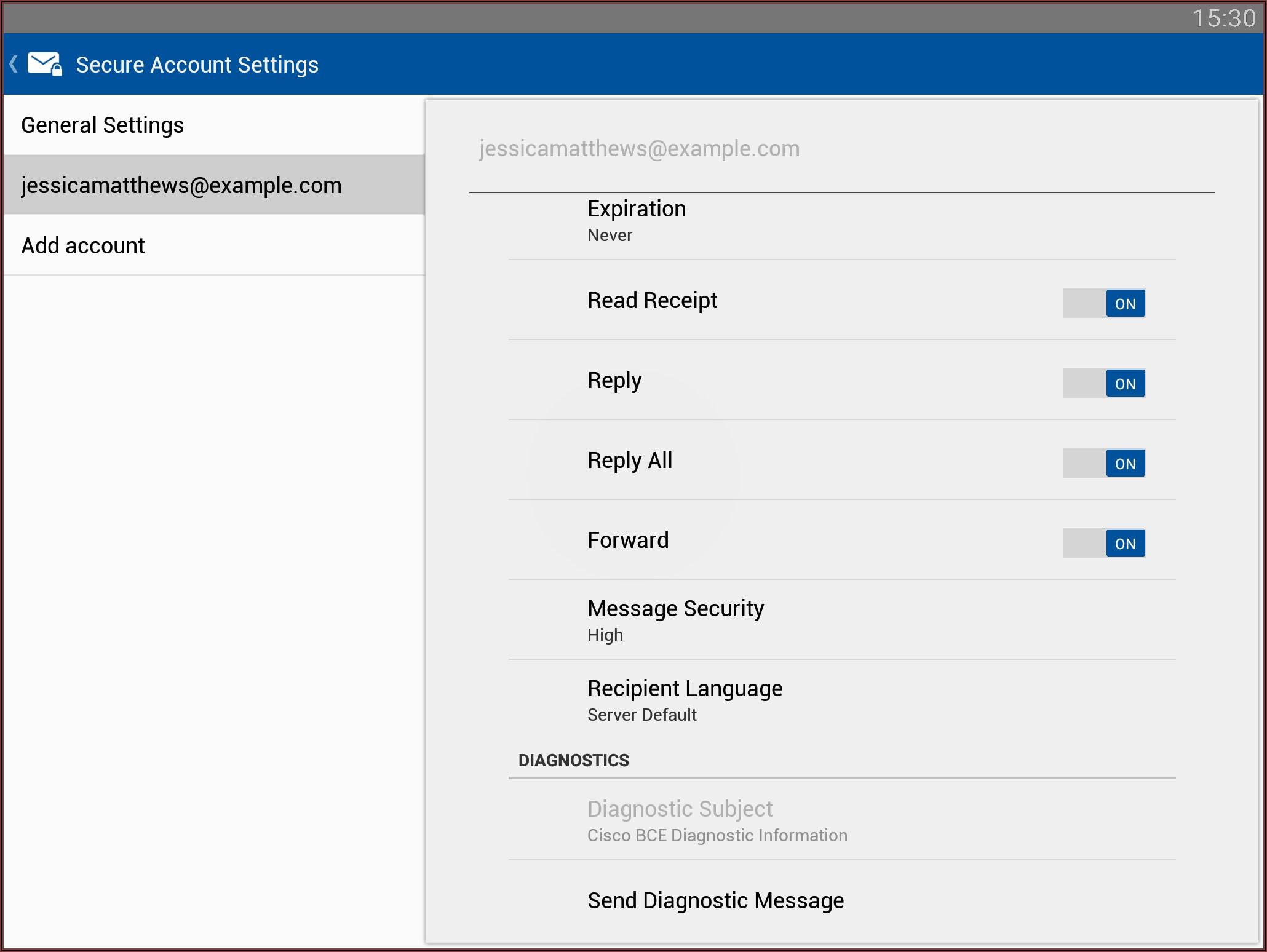 Cisco Registered Envelope Service Chrome