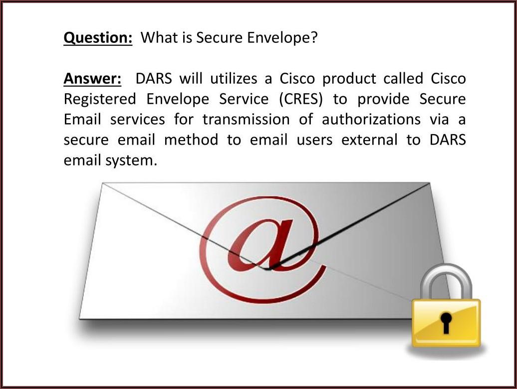 Cisco Registered Envelope Service (cres Register)