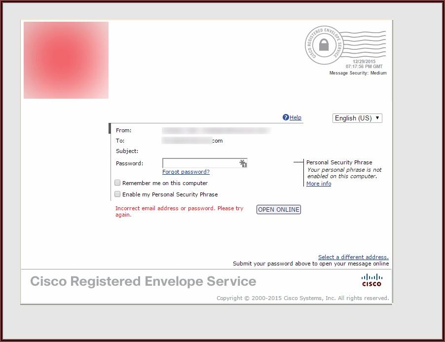 Cisco Registered Envelope Service (cres) Registration